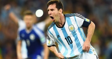 RIO DE JANEIRO, BRAZIL - JUNE 15:  Lionel Messi of Argentina celebrates after scoring the team's second goal during the 2014 FIFA World Cup Brazil Group F match between Argentina and Bosnia-Herzegovina at Maracana on June 15, 2014 in Rio de Janeiro, Brazil.  (Photo by Shaun Botterill - FIFA/FIFA via Getty Images)
