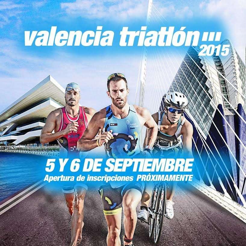 Cartel Valencia Triatlón 2015