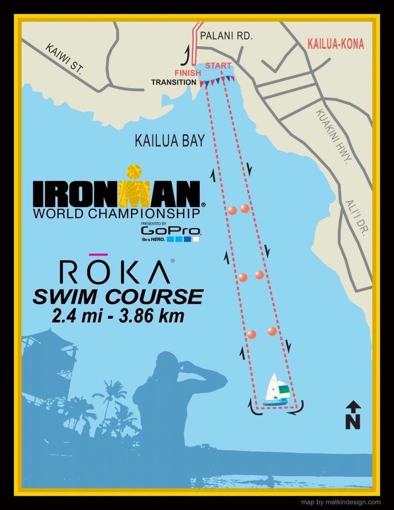Mapa nado Ironman Champions