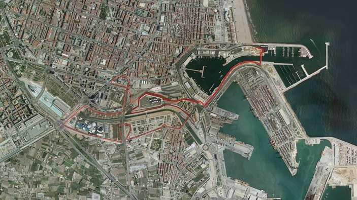 Recorrido ciclismo Olímpico Valencia Triatlón 2015