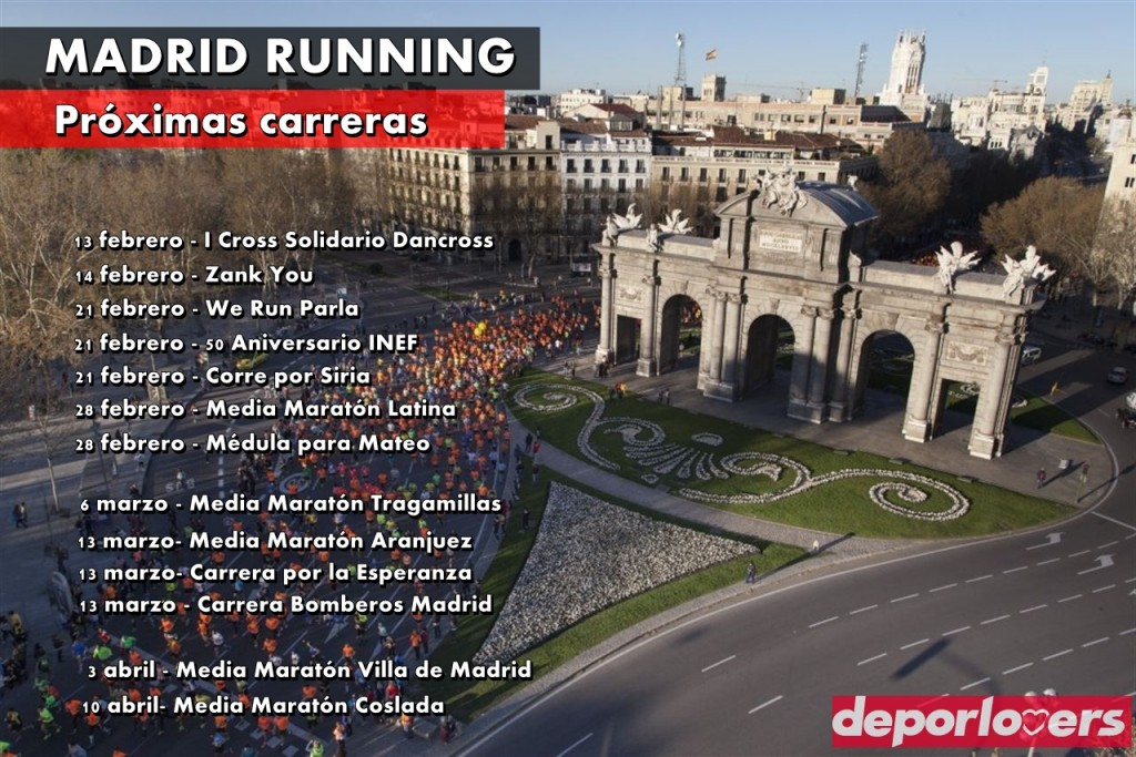 proximas carreras populares madrid running