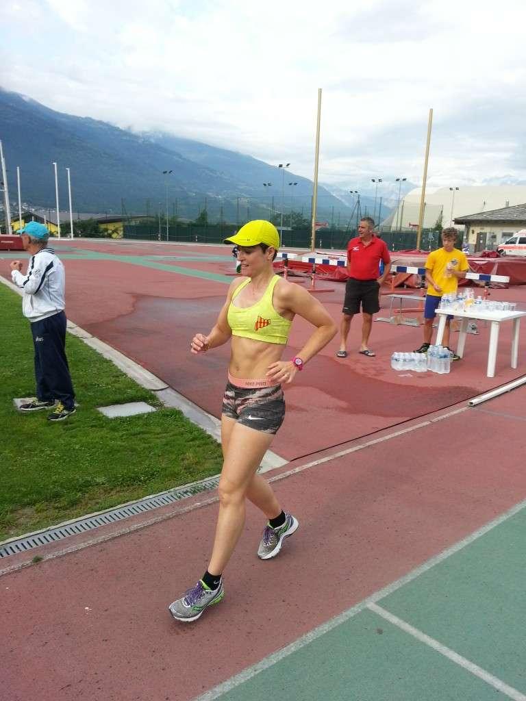Sandra Corduera, entrenando retrorunning