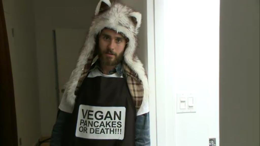 Jared Leto vegan pancakes