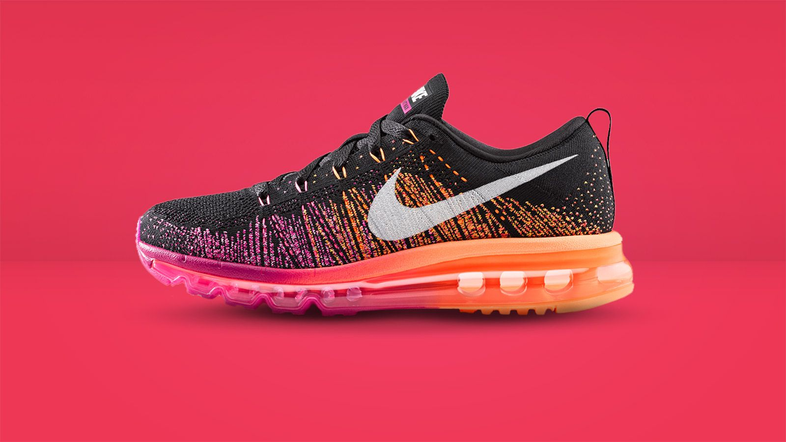 zapatillas nike flyknit air max pink multicolor
