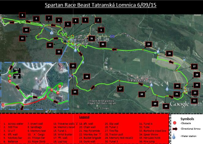Plano de la Spartan Race Eslovaquia 2015