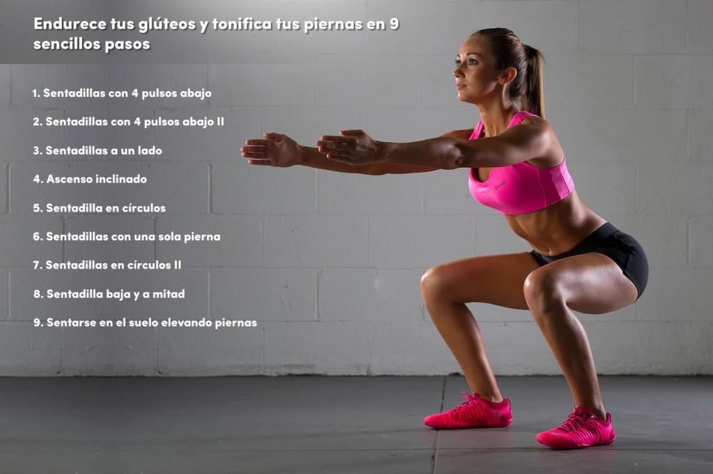 9 pasos para endurecer tus gluteos y piernas