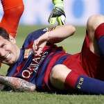 Lionel Messi - Rotura ligamento interior izquierdo
