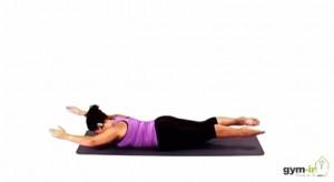 Pilates elevación de brazos y piernas