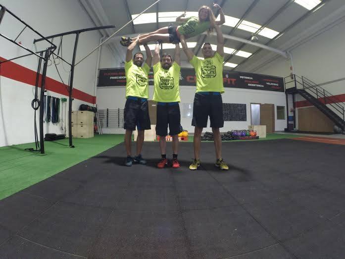 Ricardo, Alejandro, Iván y Estefanía, los Chipirones Afogaos que vienen de Ovetus CrossFit.