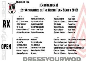 Clasificados The North Team Series