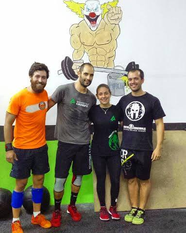 Crossfit Maherit Rio Team, formado por Víctor, Rubén, Antonio y Ruth.