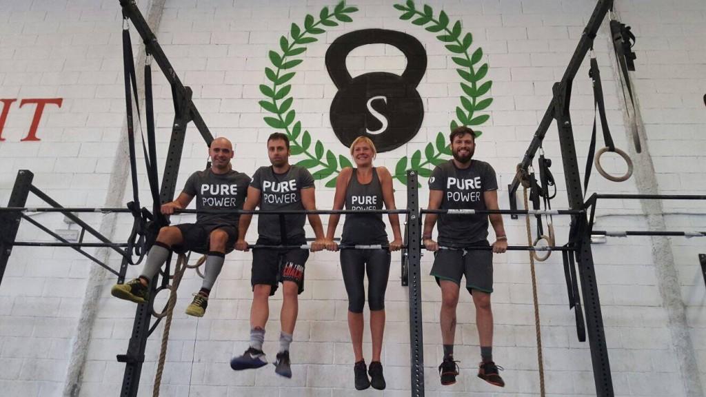 Tito, Iván, Laia y Marc de La Legión Maldita de CrossFit Scipion.