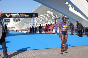 Ganadora Maratón Valencia 2015