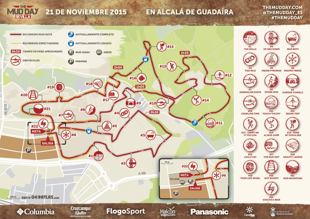 Recorrido en exclusiva The Mud Day 2015 Sevilla