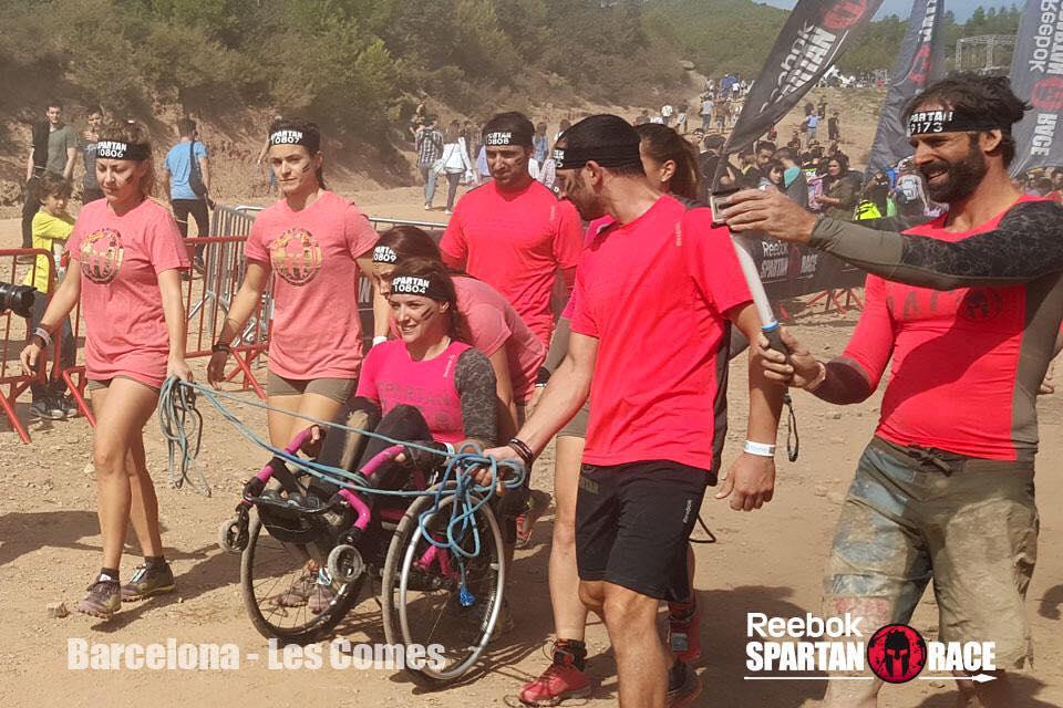 Eva Moral participó en la Spartan Race de Barcelona