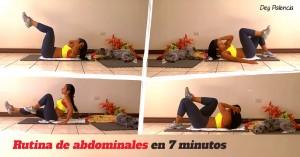 Rutina de abdominales 7 minutos con Dey Palencia