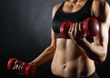 bíceps y tríceps sin grasa