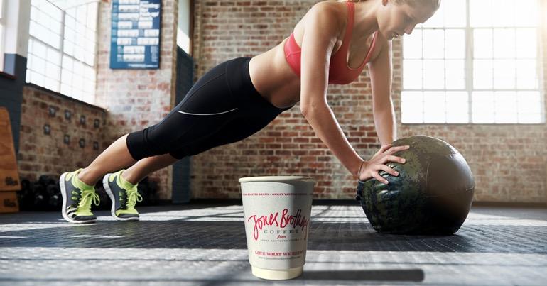 deporte y café. efectos
