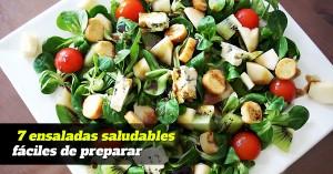 7 ensaladas saludables fáciles de preparar