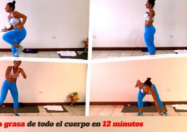 Entrenamiento quema grasa global en 12 minutos con Dey Palencia