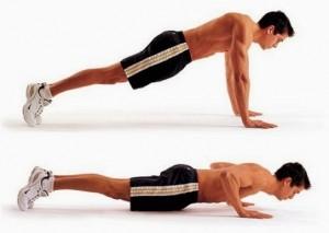 flexiones workout