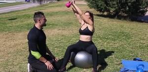 Entrenamiento fitball ejercicio 1