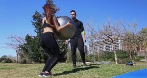 Entrenamiento fitball ejercicio 5b