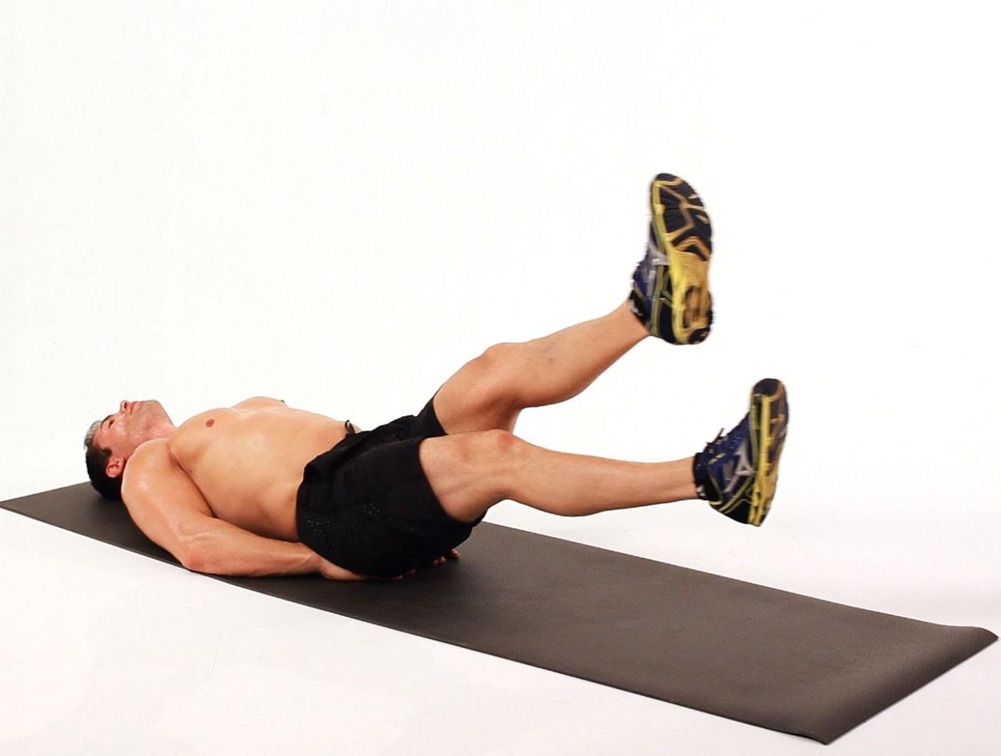 Rutina de ejercicio tijera