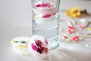 cubitos de flores comestibles