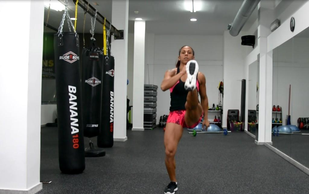 front kicks jumping