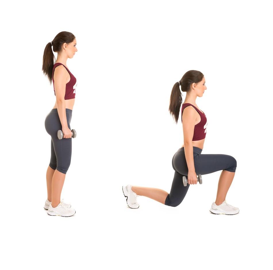 zancada frontal squat