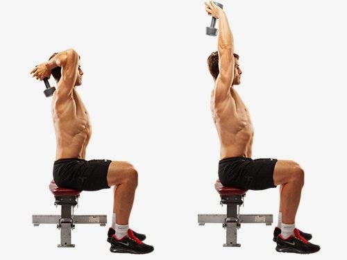extensiones de triceps con mancuerna