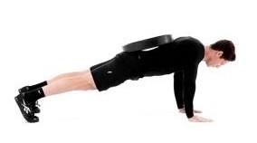 flexiones peso espalda lastradas