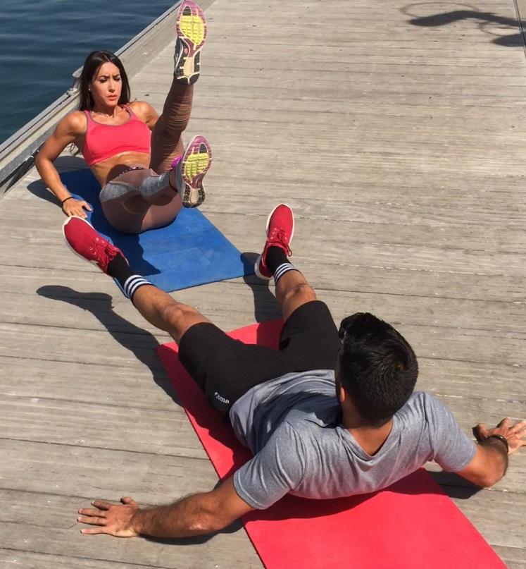 ejercicios de abdominales y piernas