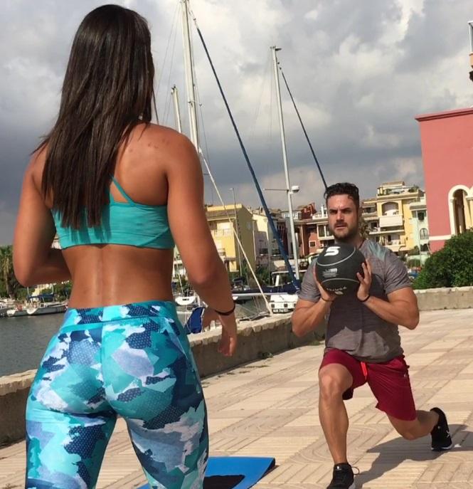 circuito-por-pareja-entrenamiento-balon-medicinal