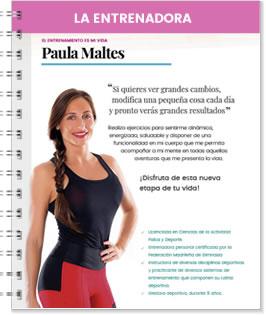 La entrenadora Paula Maltes