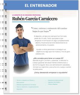 El entrenador Ruben García Carnicero