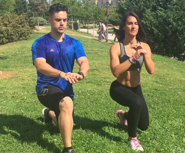 Cardio quemagrasas en pareja: 9 ejercicios para un