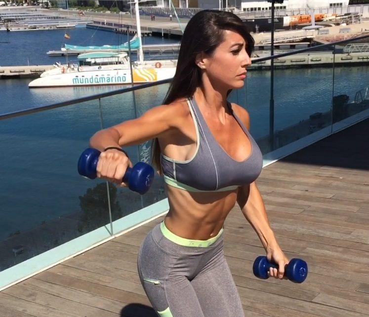 Ejercicios para triceps con mancuernas mujeres